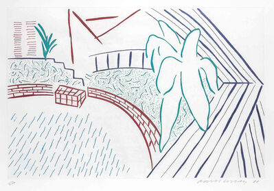 David Hockney, 'My Pool and Terrace', 1984