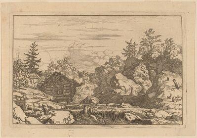 Allart van Everdingen, 'Cottages at the Bank', probably c. 1645/1656