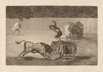 Francisco de Goya, 'Otra locura suya en la misma plaza (Another Madness of His in the Same Ring)', in or before 1816