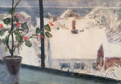 John Whorf, 'Winter from my Studio - Provincetown'