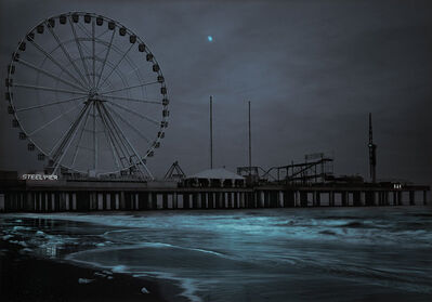 Michael Massaia, 'Steel Pier Moonrise, Atlantic City, NJ', 2020
