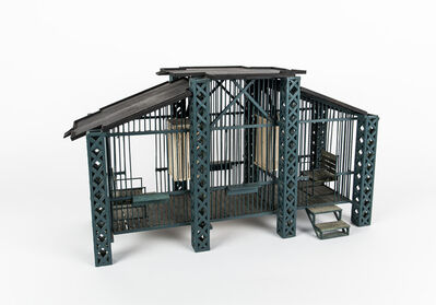 Siah Armajani, 'Gazebo for Two Anarchists; Emilio Codo and Richard Henry Dana', 1991