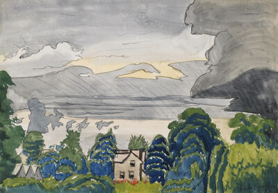 Charles Ephraim Burchfield, 'Lull in Summer Rain', 1916