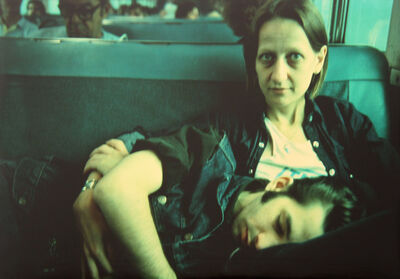 Nan Goldin, 'Suzanne and Philippe on the train, Long Island, NY', 1985