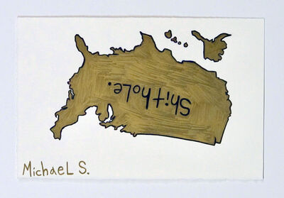 Michael Scoggins, 'COVIDBLM DRAWING #17 (SHITHOLE)', 2020