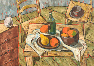 Christa Kirova, 'Interior with table and chairs', 2021