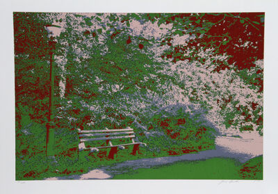 Max Epstein, 'Bench in the Park', 1980