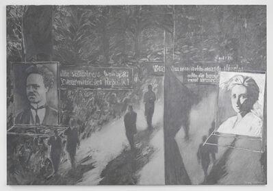 May Stevens, 'Demonstration', 1983