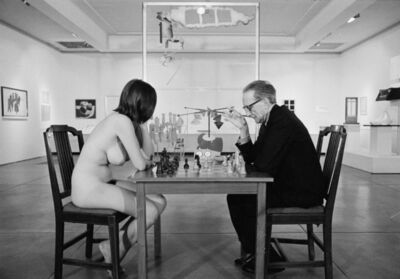 Julian Wasser, 'Marcel Duchamp Playing Chess with Eve Babitz ', 1963