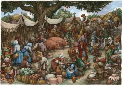 David Wenzel, 'The Shire: East Farthing Market', 2015