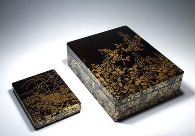 Miyazaki Heiandō, 'Writing Box and Document Box, Poem, Grasses and Flowers(T-1261-1)', Taisho era (1912_1926)-1920s