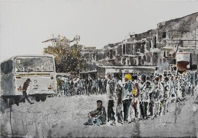 Mohammed Kazem, 'Windows Acrylic and ink on canvas', 2019