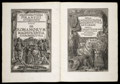 Giovanni Battista Piranesi, '[Facing title pages]', 1761