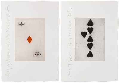 Donald Sultan, 'King of Diamonds and Six of Spades from Playing Cards (two works)', 1990