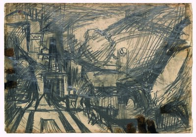 Frank Auerbach, 'Study after Turner's The Parting of Hero and Leander', 1952-1953