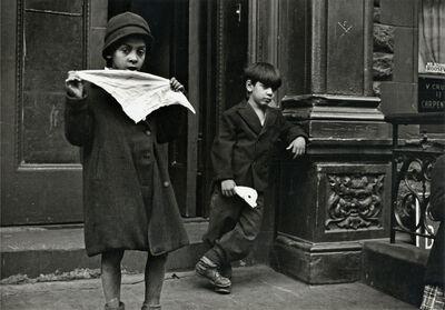 Helen Levitt, 'New York (girl holding cloth)', ca. 1945