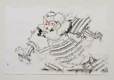 Gajin Fujita, 'Study of Southland Standoff (Black Warrior)', 2014