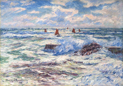Henry Moret, 'Gros temps à Doëlan. Bretagne', 1909