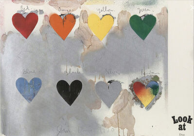 Jim Dine, '8 hearts/look', 1970