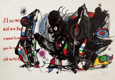 Joan Miró, 'Poemas para Mirar', 1976