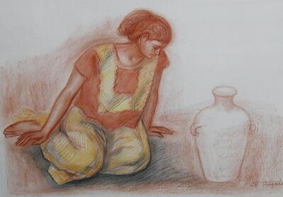 Raúl Anguiano, 'Mujer Con Vasija', 1973