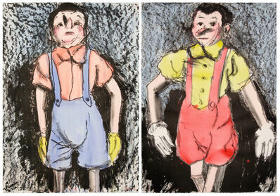 Jim Dine, 'Watercolor Boys', 2007