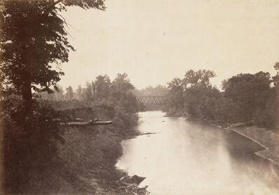 Alexander Gardner, 'Railroad Bridge Across Grasshopper Creek, Kansas', 1867