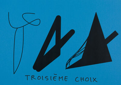Claude Closky, 'Troisième choix (bleu turquoise) (e)', 2020