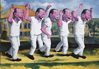 Yue Minjun, 'Surrender', 2009