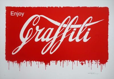 Ernest Zacharevic, 'ENJOY GRAFFITI, HAND SPRAYED', 2014