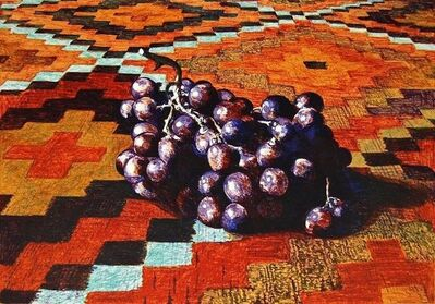 Lowell Nesbitt, 'Grapes on a Navajo Rug', 1977