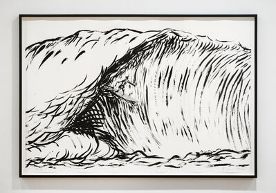 Raymond Pettibon, 'Untitled (Hermosa Beach) Black and White', 2019