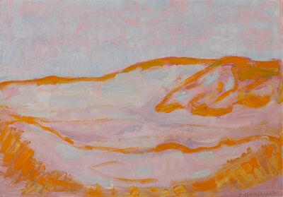 Piet Mondrian, 'Dune Sketch in Orange, Pink and Blue', 1909