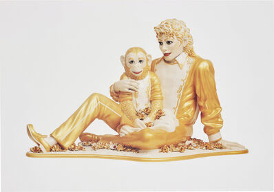Jeff Koons, 'Michael Jackson and Bubbles', 1995