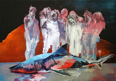 Ian Francis, 'A Crowd Tries to Determine if a Shark is Real and/or a Threat', 2019
