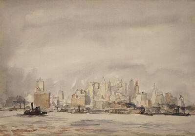 Reginald Marsh, 'New York City Skyline from Governor's Island', 1928