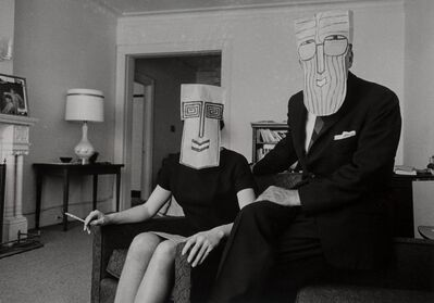 Inge Morath, 'Untitled from The Mask Series with Saul Steinberg', 1962