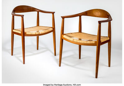 Hans Jørgensen Wegner, 'Pair of The Chairs (JH501)', circa 1950