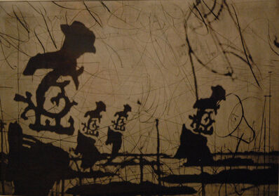 William Kentridge, 'Untitled (Bowlers) from Zeno II', 2003