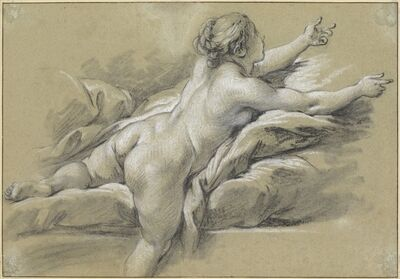 François Boucher, 'A Nude Woman Reaching to the Right', ca. 1769