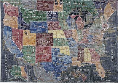 Paula Scher, 'The United States (Multi-colored)', 2007