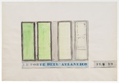 Tano Festa, 'Le Porte dell'Atlantico', 1962