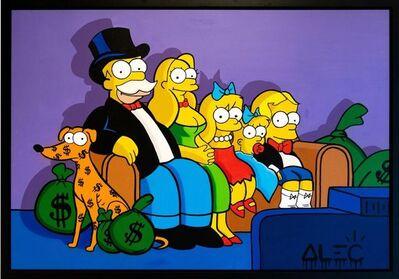 Alec Monopoly, 'Simpsons Family Monopoly Portrait ', 2019