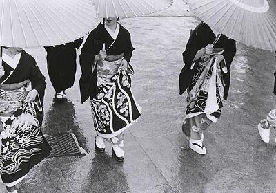 Kiichi Asano, 'A Rainy Commencement Ceremony Day', January 1953