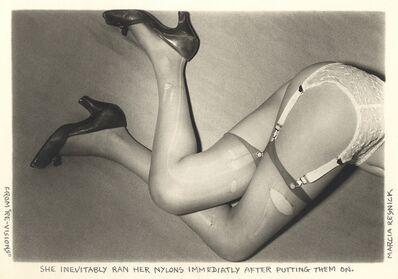 Marcia Resnick, 'She inevitably ran her nylons immediately after putting them on', 1978