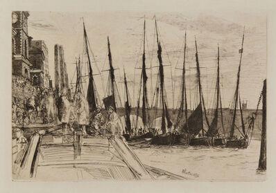 James Abbott McNeill Whistler, 'Boats Alongside Billingsgate, London', 1859