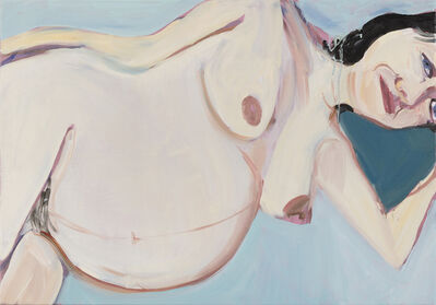 Chantal Joffe, 'Gemma Lying Down (Eight Months)', 2018