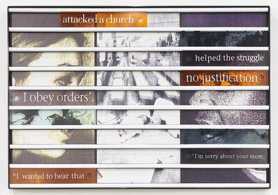 Sue Williamson, 'Truth Games: Liezl Ackermann – not a church – Gcinikhaya Makoma', 1998