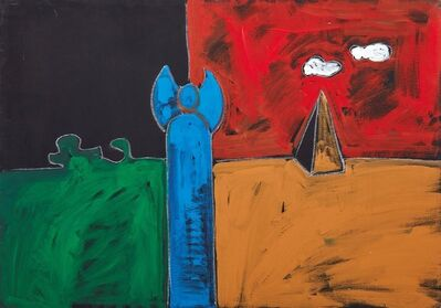 Tano Festa, 'Dedicato a Sandro', 1987
