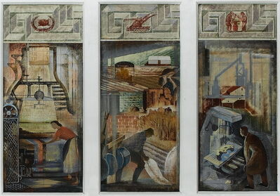 Jean Clark, 'Study for the Committee Room of the London Bankers Clearing House, 1958', 1958